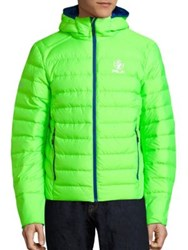 Polo Ralph Lauren Explorer Quilted Safety Jacket Neon