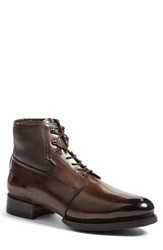 Santoni Men's Bighorn Plain Toe Boot With Genuine Shearling