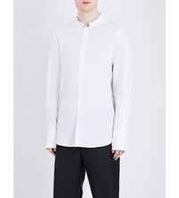 Wooyoungmi Relaxed Fit Stretch Cotton Shirt White