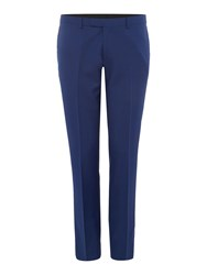 Kenneth Cole Lance Flat Front Suit Trousers Electric Blue