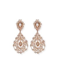 Jose And Maria Barrera Rose Golden Crystal Clip On Earrings