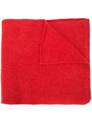 The Elder Statesman Classic Scarf Red