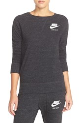 Women's Nike 'Gym' Crewneck Sweatshirt Black Sail