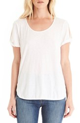 Michael Stars Women's Twisted Slit Sleeve Tee White