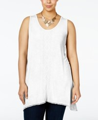Nanette Lepore By Plus Size Embroidered Tank Top Only At Macy's White