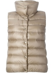 Moncler Padded Gilet Brown