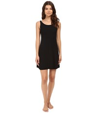 Only Hearts Club Feather Weight Rib Tank Chemise Black Women's Pajama
