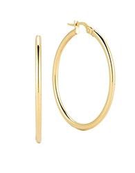 Roberto Coin 18K Yellow Gold Hoop Earrings 1.4In