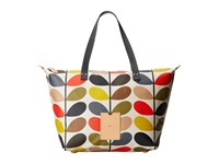 Orla Kiely Matt Laminated Classic Multi Stem Zip Shopper Multi Tote Handbags