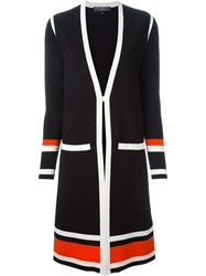 Salvatore Ferragamo Open Front Cardi Coat Black