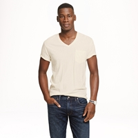 J.Crew Cotton Linen V Neck Pocket Tee