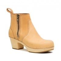 Swedish Hasbeens Zip It Emy Boots Beige