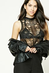 Forever 21 Boxy Crochet Lace Top