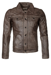 Redskins Tucson Leather Jacket Brown