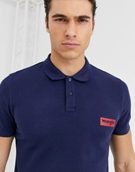 Wrangler Wranger Logo Polo In Navy