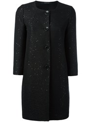 Tagliatore Sequin Embellished Coat Black