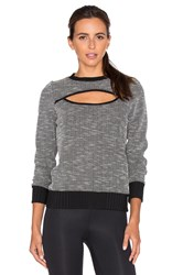 Koral Breach Open Front Pullover Black