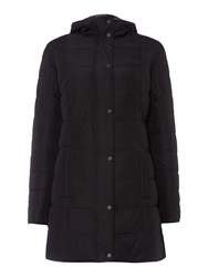 Barbour Carlin Down Filled Reversible Quilted Coat Black