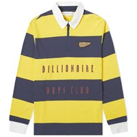 Billionaire Boys Club Striped Zip Rugby Shirt Yellow