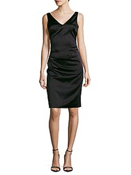Nicole Miller Ruched Bodycon Dress Black