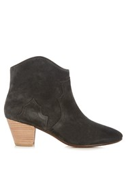 Isabel Marant Etoile Dicker 55Mm Suede Ankle Boots Black