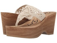 Rocket Dog Helena Natural Macrame Women's Wedge Shoes Tan