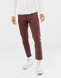New Look Cropped Slim Jeans In Rust Red