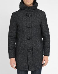 Minimum Grey Bedford Hooded Pea Coat