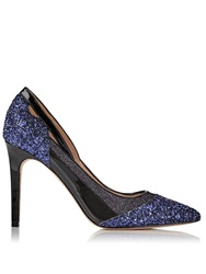 Lucy Choi London Bowie Glitter High Heel Shoes Navy Navy
