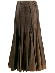 Y Project Seam Detailed Skirt Brown