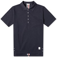 Thom Browne Back Stripe Relaxed Fit Polo Blue