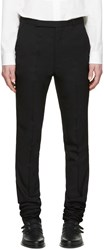 Paul Smith Black Extra Long Wool Trousers