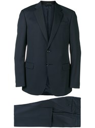 Giorgio Armani Two Piece Fitted Suit Blue