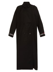Preen Lauren Oversized Wool Blend Trench Coat