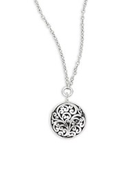 Lois Hill Round Pendant Necklace Silver