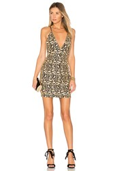 By The Way. Amari Lace Mini Dress Metallic Gold