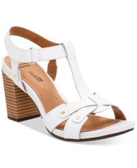 Clarks Collection Women's Banoy Valtina Dress Sandals Women's Shoes White