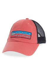 Vineyard Vines Low Profile Lax Patch Trucker Hat Red Jetty Red