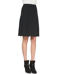 Rena Lange Pleated Georgette Skirt Women's