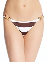 Pilyq Bamboo Deatil Striped Bottoms Godiva