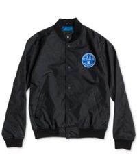 Dc Shoes Nylon Varsity Bomber Jacket Black