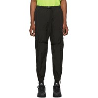 Off White Black And Offf Parachute Cargo Pants