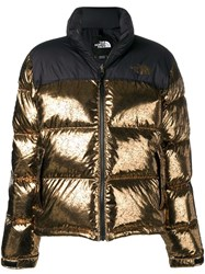 The North Face Metallic Puffer Jacket Gold