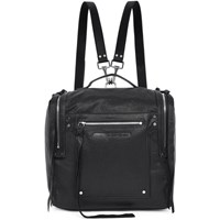 Mcq By Alexander Mcqueen Black Convertible Loveless Box Backpack