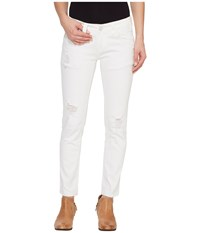 Rock And Roll Cowgirl Low Rise Skinny In White W0c1402 White Women's Jeans