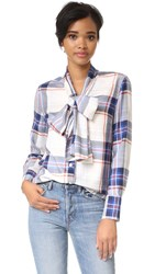 Ruken Sophie Plaid Blouse Red Blue Plaid