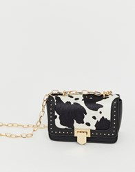 Stradivarius Cow Print Cross Body In Multi