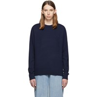 Acne Studios Navy Nalon Wool Face Crewneck Sweater