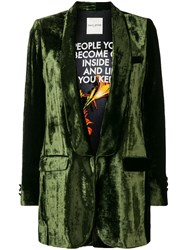 Each X Other Velour Designed Jacket Green