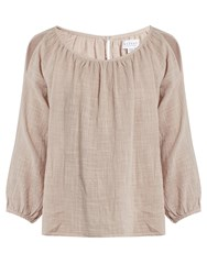 Velvet By Graham And Spencer Marcelle Cotton Gauze Top Nude